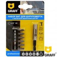 Набор «Graff» из 6 бит, магнитным держателем для бит.