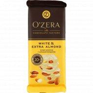 Белый шоколад «O'Zera» extra Almond, 90 г.