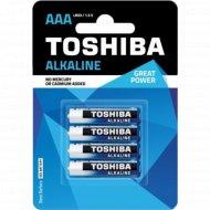 Элемент питания «Toshiba» Alkaline LR03 4BP, 4 шт.