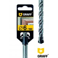 Сверло по бетону «Graff» 6х100х160, SDS-plus.