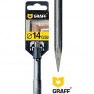 Зубило «Graff» пикообразное, 14х250 мм, SDS-plus.