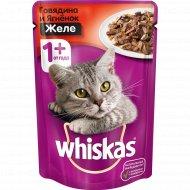 Корм для кошек «Whiskas» с говядиной и ягненком, 85 г.