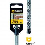 Сверло по бетону «Graff» 5х100х160, SDS-plus.