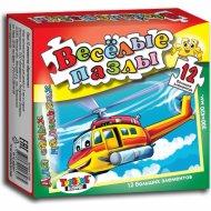 Развивающая игра пазл «Вертолетик» 12 элементов.