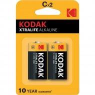 Элемент питания «Kodak» Xtralife Alkaline LR14/2BP, 2 шт.