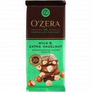 Шоколад молочный «O'zera» с цельным фундуком, 90 г.
