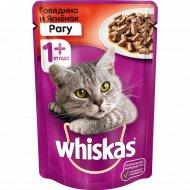 Корм для кошек «Whiskas» рагу с говядиной и ягненком, 85 г.