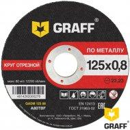 Круг отрезной по металлу «Graff» 125х0.8х22.23 мм.
