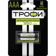 Аккумулятор «Трофи» 950 mAh, AAA, 2 шт.