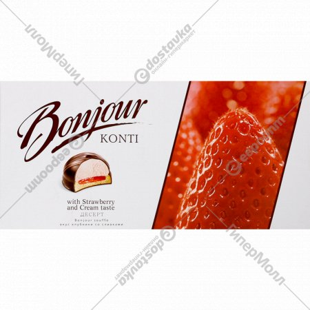 Десерт «Bonjour souffle» клубника со сливками, 232 г.
