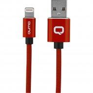 Кабель USB «Qumo» MFI С48, Apple 8 pin, красный, 1 м