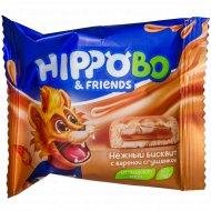 Пирожное бисквитное «Hippo Bo & Friends» с вареной сгущенкой, 32 г