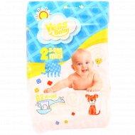 Детские подгузники «Yess Baby» mini, размер 2, 3-6 кг, 62 шт.
