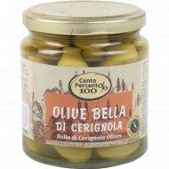 Оливки «Cento Percento» Ла Белла Ди Чериньола, 300 г