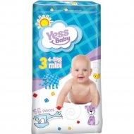 Детские подгузники «Yess Baby» midi, размер 3, 4-9 кг, 56 шт.