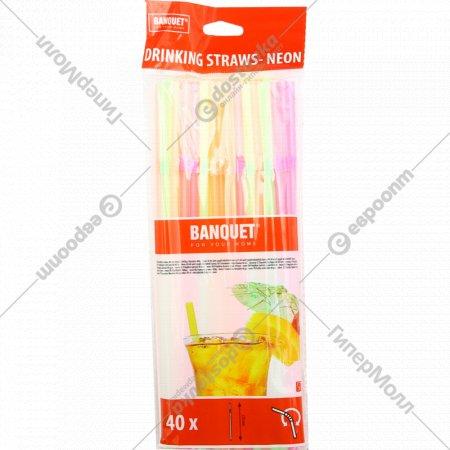 Набор соломок для питья пластмассовых 40 шт.