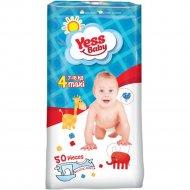 Детские подгузники «Yess Baby» maxi, размер 4, 7-18 кг, 50 шт.