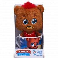 Игрушка в кружке «Команда Плюш» медведь.