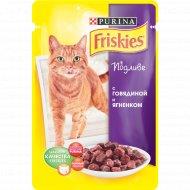 Корм для кошек «Friskies» в подливе с говядиной и ягнёнком, 100 г.