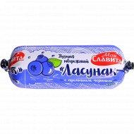 Пудинг творожный «Ласунак» с ароматом черники, 6%, 100 г.