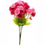 Цветок искусственный «Роза» бордово-розовый, 28 см.