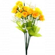Цветок искусственный «Роза» лимонный, 28 см.