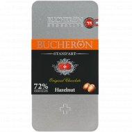 Шоколад горький «Bucheron» с фундуком, 72%, 100 г.