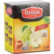 Чай черный «BRITON» карамель/груша 34г.