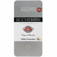 Шоколад молочный «Bucheron» с фисташками, 100 г.