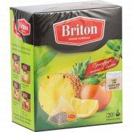 Чай зеленый «BRITON» ананас/грейпфрут/лимон 34г.