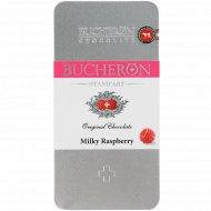 Шоколад молочный «Bucheron» с кусочками малины, 100 г.
