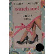 Носки женские «Touch Me» Socks 20 black, безразмерные.