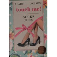 Носки женские «Touch Me» Socks 20 beige, безразмерные.
