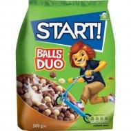 Завтраки сухие зерновые «Start» Duo шарики, 500 г.