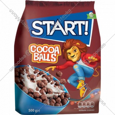 Готовый завтрак «Start!» шоколадные шарики, 500 г.