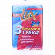 Губка «Tetex Lux» из целлюлозы 140 x 100 x 10 мм, 3 шт.