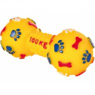 Игрушка для собаки «Гантель с футбольными мячикамиl» 15 см.