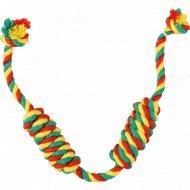 Игрушка для собак «Doglike» Color Канатная сарделька, двойная, малая, 44 см.