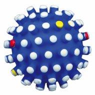Игрушка «Trixie» шарик-ежик, с цветными шипами, со звуком, D-10 см.