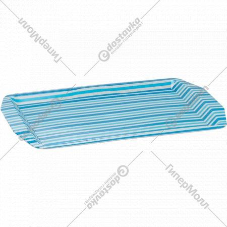 Поднос пластмассовый прямоугольный «Полоски» 32 х 22 см.