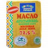 Масло сладкосливочное «Крестьянское» 72.5%, 180 г.