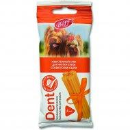 Жевательный снек «Dent» со вкусом сыра, для мелких собак, 1 шт.