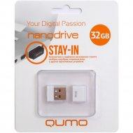 USB Flash «Qumo» Nano 32GB, QM32GUD-NANO-W