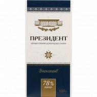 Шоколад горький «Президент Эксклюзив» 78%, 100 г.