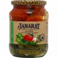 Томаты и корнишоны «Janarat» маринованные, 675 г.