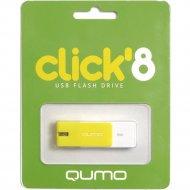 USB Flash «Qumo» Click 8GB, QM8GUD-CLK-Lemon