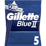 Одноразовые бритвы «Gillette» Blue II с хромовым покрытием, 5шт.