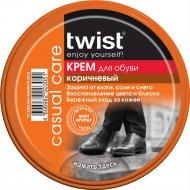Крем для обуви «Twist» Fashion, коричневый, 50 мл.