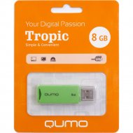 USB Flash «Qumo» Tropic 8GB, QM8GUD-TRP-Green