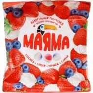 Жевательный мармелад «Маяма» клубника и черника со сливками, 70 г.